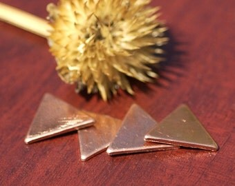Blank Triangles 14.5mm Cutout for Enameling Stamping Texturing Soldering Blanks