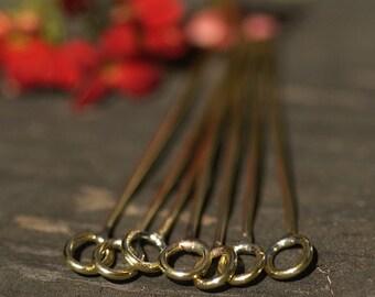 Handmade Brass Heapins 18g Artisan Fancy 2 3/4 inch long - 70mm - 6 pieces