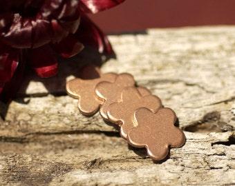 Copper Flower Blank Tiny Shape 5 Petal 9mm 20g for Enameling Stamping Texturing Soldering Blanks