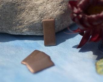 Copper Letter I Alphabet Blank Shape for Texturing Soldering Enameling - 4 pieces