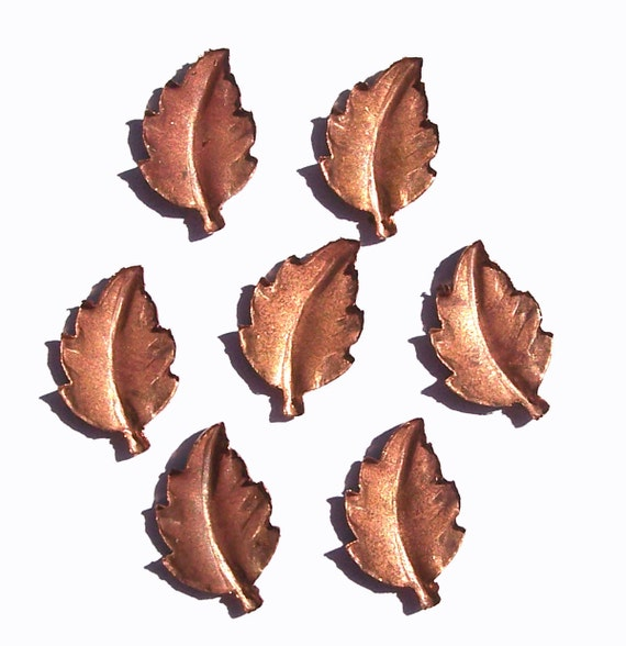 Copper 15mm x 10mm Leaf Blank - Leaves - Fall Greenery 3D shape