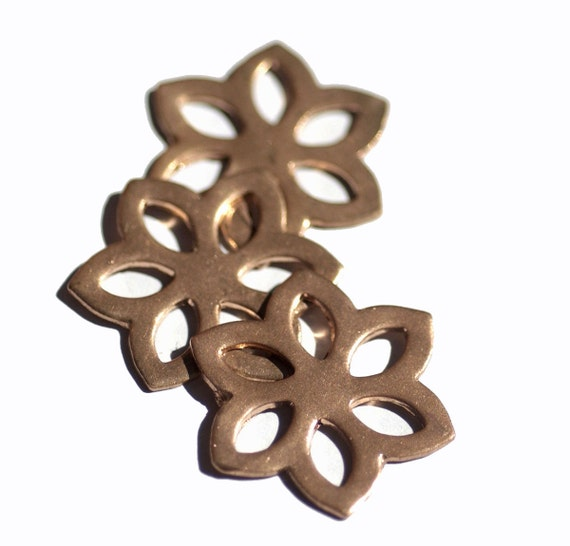 Copper Flower Diamond II 31mm 20g Cutout for Blanks Enameling Stamping Texturing