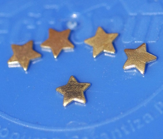 Bronze My MOST Tiny Star Blank Cutout for 5mm 24g Metalworking Soldering Stamping Texturing Blanks