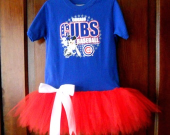 OOAK Chicago Cubs Tutu Dress Size 4/5 Ready To Ship