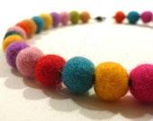 Colorful Felt Necklace