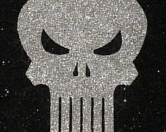 Punisher Inspired Marvel Comics Glitter Skull Art Decor ~CLEARANCE~