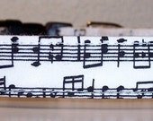 Dog Collar, Music Notes on Black and White