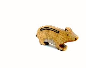 hamster wood toy, waldorf animal toys, hamster figurine, wooden waldorf toys