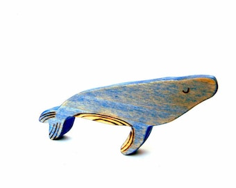 wooden humpback whale waldorf toy