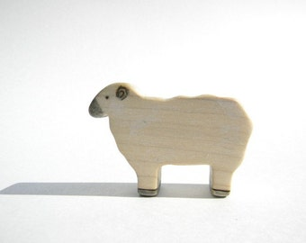 sheep wooden toy, waldorf sheep toy, sheep figurine, farm animal toys, wooden waldorf toys