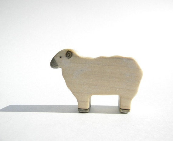sheep waldorf wooden toy eco-friendly natural