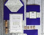 Modern Wedding Invitation - First Comes Love