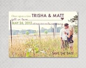 Save the Date Postcard Magnet Photo - Love Story