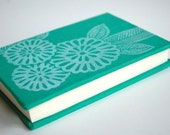 Hand block printed hardcover journal