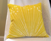 Yellow Dandelion Print Pillow (COVER ONLY)