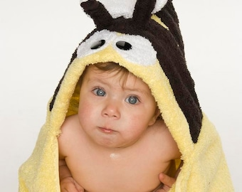 Bumble Bee Hooded Towel