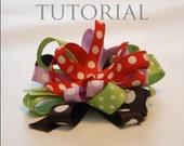 Hair Bow Instructions - Girls Tutorial, Boutique Hair Clip PDF