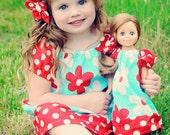 Peasant Dress SEWING PATTERN, girls and dolls tutorial, Brooke Dress or Shirt