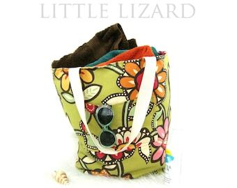 Tote Bag PDF Sewing Tutorial, Reversible 5 sizes, Beach Bag, Bag Pattern