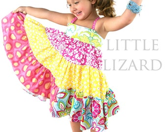 Ellie Dress PDF Sewing Pattern, including sizes 6 months-12years, Girls Twirly Dress Sewing Pattern, Party Dress Pattern, Baby Dress Pattern