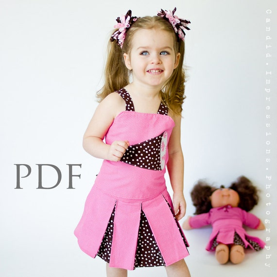 Girls Ruffle Top Corset Costume- PDF Sewing Pattern - Reversible, Girls & Dolls