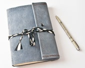 HOLIDAY SALE Wraparound Leather Journal Notebook 15 - Oopsies Sale