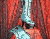 Hand painted coffin spats OOAK