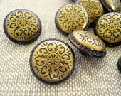 Vintage Style Design Metal Buttons, MB10039 (6 in1 set)