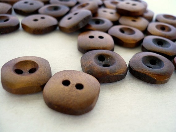 Specially Reserved for RB - WB10099 - 14mm Small Wood Buttons, 14mm Small Wooden Buttons (20 in 1 set)