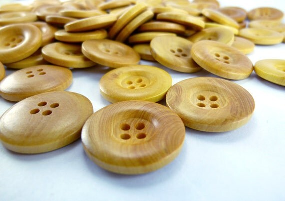 Natural Simple Design Wooden Buttons, Wood Button Natural Design, Wooden Buttons, WB11077 (8 in 1 set)