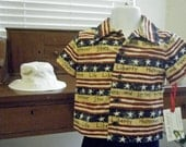custom (do not purchase) for Ken O.  Boys 3 pc. Liberty shorts set. Size 1T