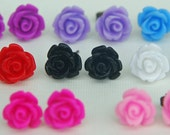 Rockin' Rose Stud Earrings - 9 colors to choose from