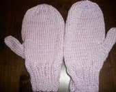 RESERVED For Saucier-Adult/Teen Hand Knit Lavender Mittens
