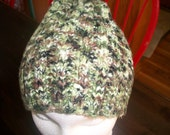 FREE Shipping-Adult Stocking Cap-Camouflage-Hand Knit