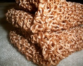 FREE Shipping-Set of Two Hand Knitted Scrubbies-Made from Up-cycled fiber