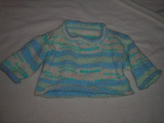 Knitted Baby Sweater/Pullover Boy or Girl