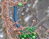 Gimme the Peacock a Handcrafted Statement Necklace