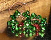 Holly and Ivy Christmas Wreath Earrings