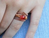 Copper Stacking Rings, Wire Wrapped Rings