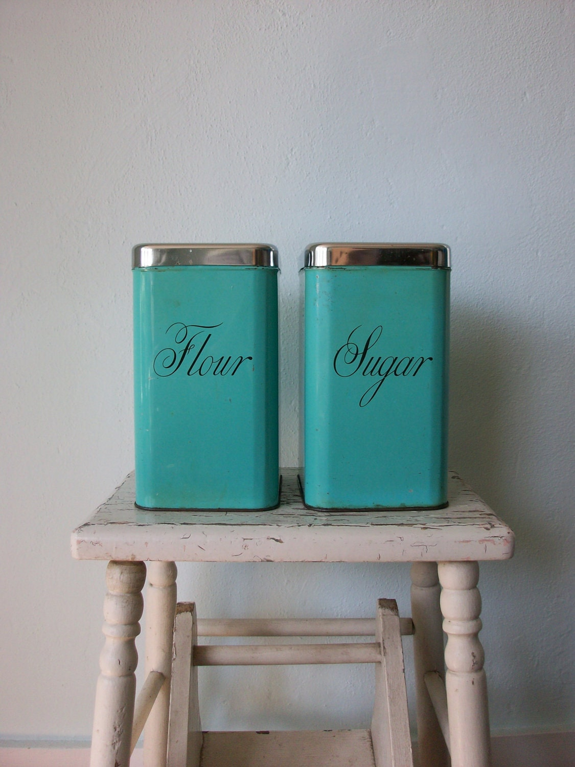 vintage kitchen canisters 1950 s flour amp sugar teal 17 best images about kitchen canisters on pinterest jars