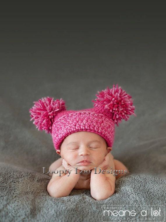 Newborn Photo Prop Crochet Hat Jester Hat w/ by ...