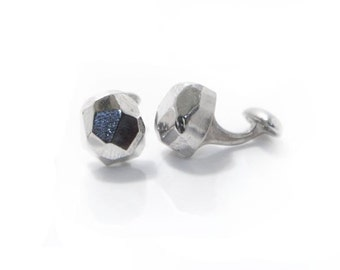 Sterling Faceted Cufflinks