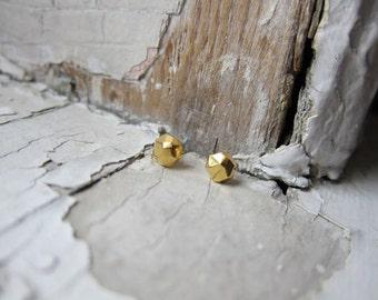 14K Gold Nugget Earrings