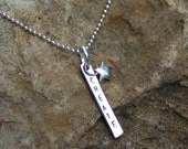 Hand Stamped, Sterling Silver, Create, Star