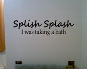 Splish Splash - Vinyl Wall Decal Sticker Art