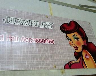 2 ft x 6 ft Full Color Vinyl Banner for Craft Shows, Birthdays, Business Advertising