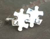 Personalized Sterling Silver Puzzle Piece Cufflinks