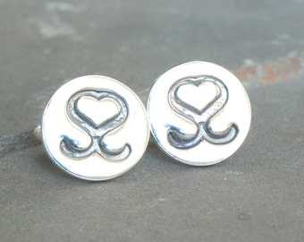 Your Wedding Monogram on Cuff links, Personalized Cufflinks with Company Logo, Personalized Bride and Groom Logo, Company Logo Merchandise