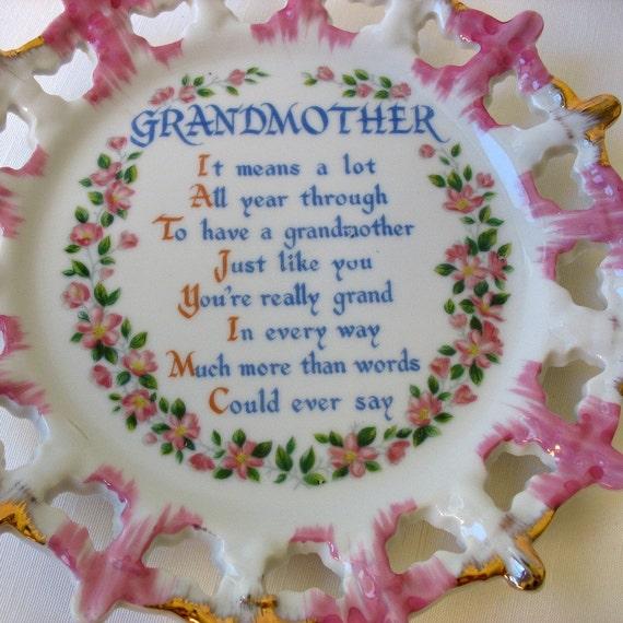 Grandmother Wall Plate