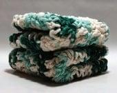 Crochet Soft Cotton Washcloth Set 2 pk